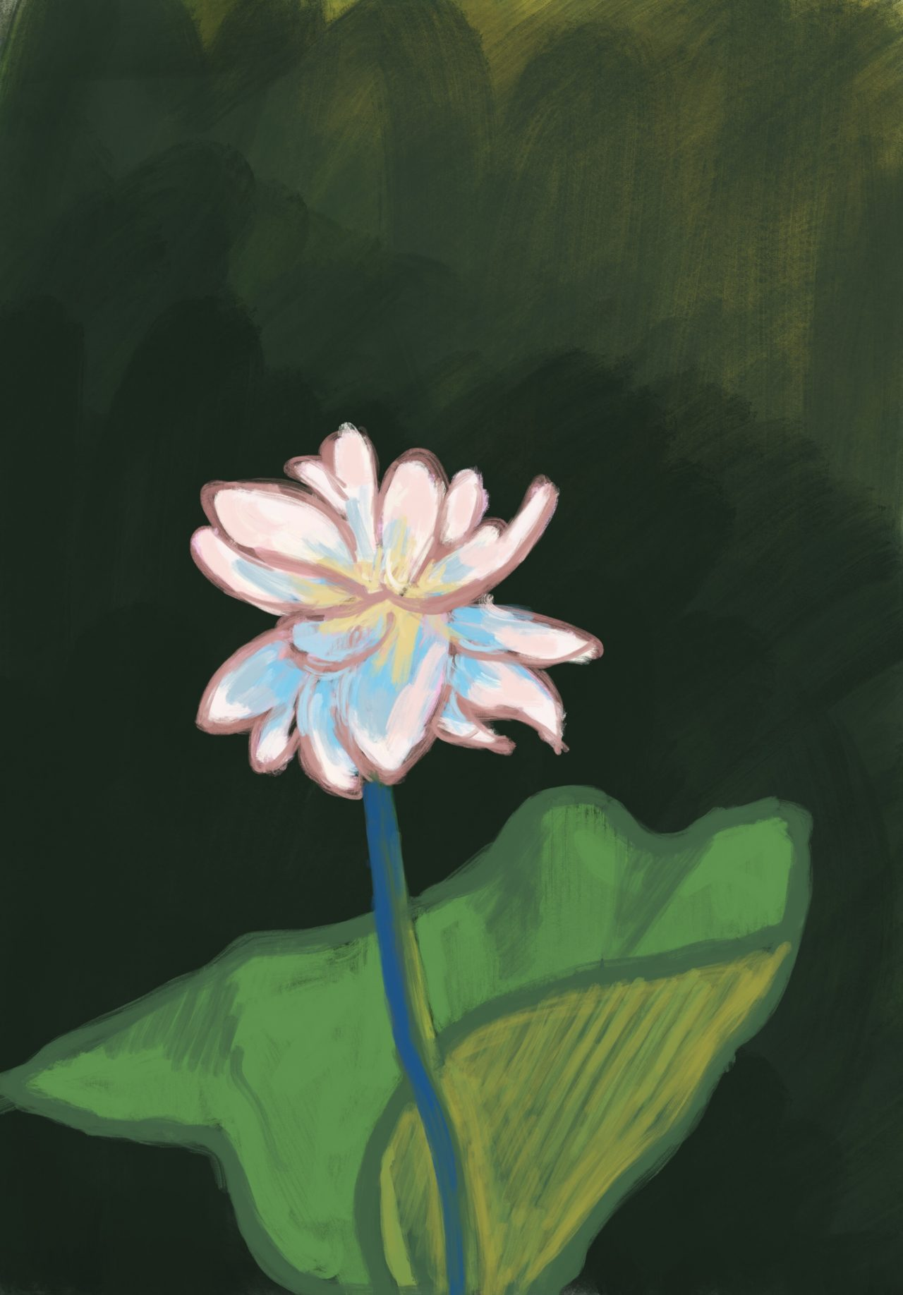 Painting of a lotus