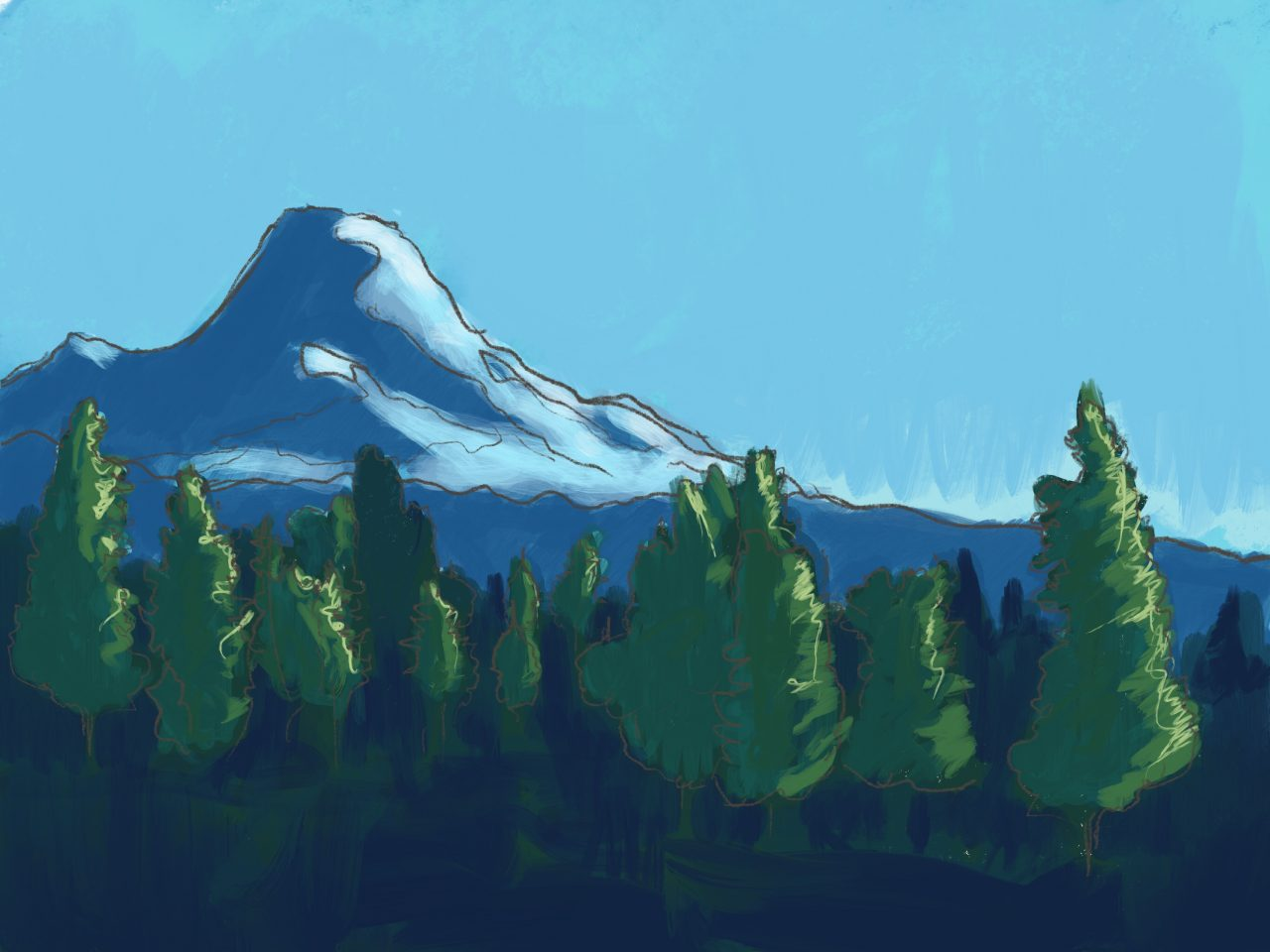 Painting of Mt. Rainier