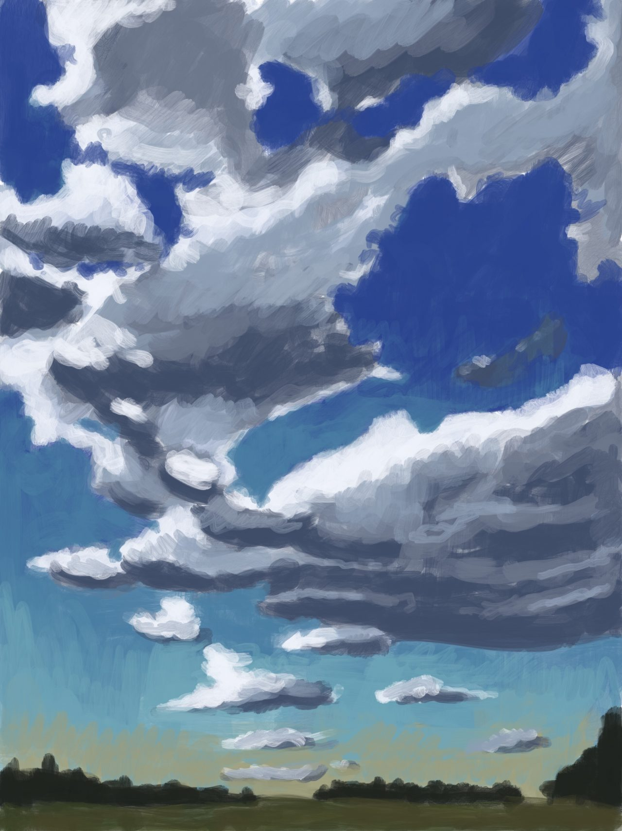 Painting of some clouds