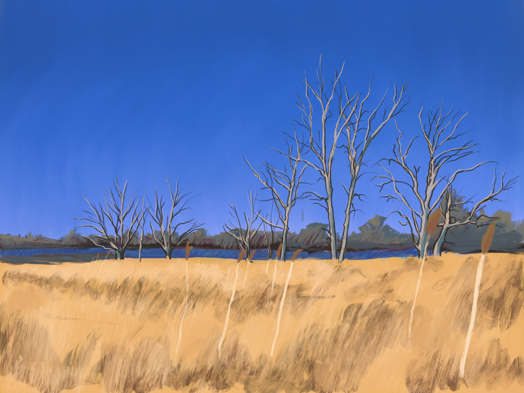 Painting of some trees