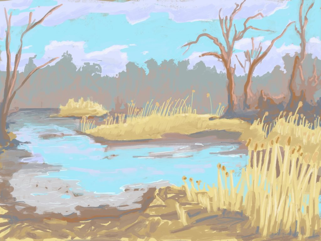 Painting of Kenilworth Marsh