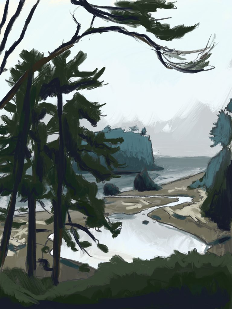 Painting of Ruby Beach